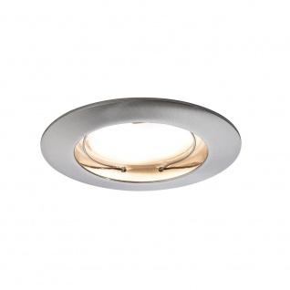 Paulmann Premium EBL Set Coin sat rund starr LED 3x6, 8W 2700K 230V 51mm Eisen g/Alu Zink