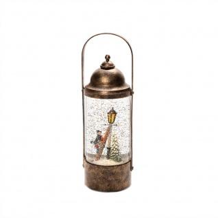 """LED Wasserlaterne """" Charles Dickens"""" batteriebetrieben & 5h Timer"""