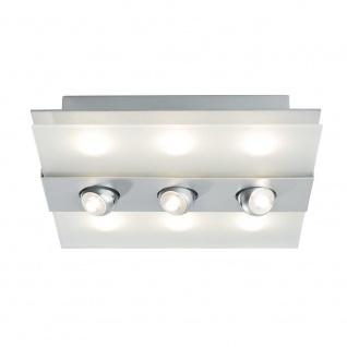 Paulmann WallCeiling Xeta-Spot dimmbar IR Fernbed LED 24W 320x320mm Chr m 230V Met/Glas