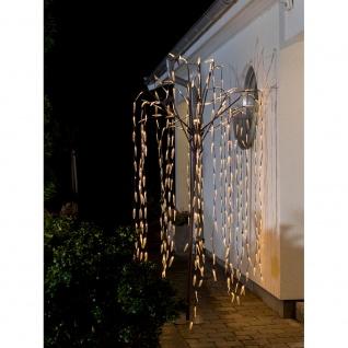 Konstsmide 3376-600 LED Trauerweide groß braun mit transparenten Blättern 384 warmweisse Dioden 24V Außentrafo braunes Kabel