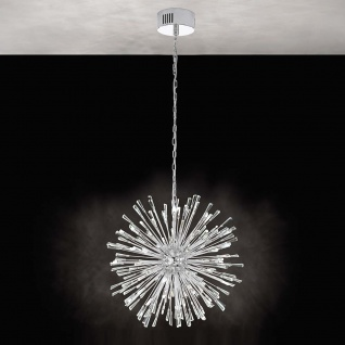 Eglo 39261 Kristall LED Hängelampe Vivaldo 1 Chrom Klar