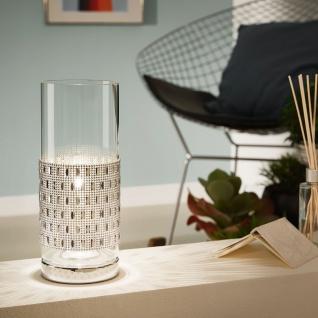 Eglo 94619 Torvisco Tischleuchte Stahl Chrom Glas klar
