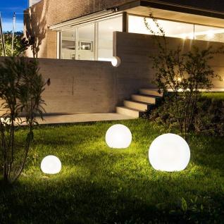 s.LUCE pro Globe+ langlebige Garten Aussenkugel Weiß matte Kugelleuchte Kugellampe