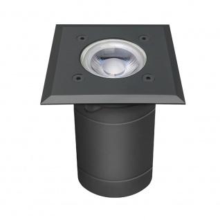 s.LUCE Level Anthrazit Bodeneinbaustrahler eckig IP54 Einbaulampe Aussen
