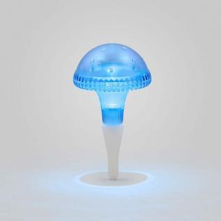 Assisi Pilz Solar LED Leuchte blau Solar Gartenlampe Gartenleuchte - Vorschau 3