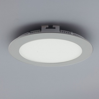 Licht-Design 30562 Einbau LED-Panel 960lm Dimmbar Ø 17cm Neutral Silber