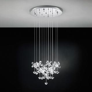 Pianopoli Kristall LED Hängeleuchte chrom 15 x 2, 5W Hängelampe