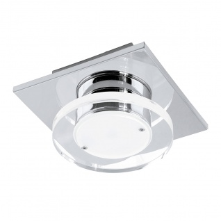 Eglo 94484 Cisterno LED Wand & Deckenleuchte 1 x 45 W Edelstahl Chrom Kunststoff klar satin