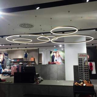 s.LUCE Ring S LED-Hängeleuchte Ø 40cm Chrom Wohnzimmer Hängelampe LED-Ring - Vorschau 3