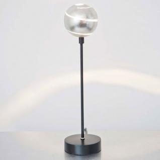 Holländer 300 K 12122 Tischleuchte Piccola Palla Eisen Schwarz-Silber
