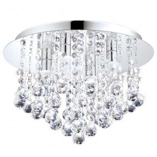 Eglo 94878 Almonte Deckenleuchte Kristall 4-flammig Chrom Klar