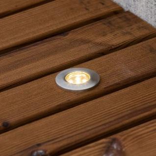 Konstsmide 7639-000 Set Mini LED Bodenspots Set 6-tlg. Edelstahl klares Glas