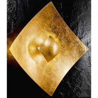 Kögl 26723 Quadrangolo Gold Wand- & Deckenleuchte Glas 32, 5cm