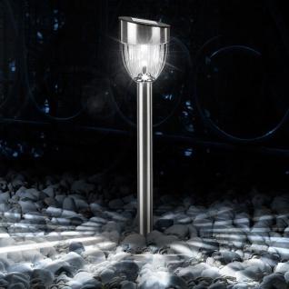 LED Solarleuchte Fackel mit Spieß 37, 5cm Edelstahl Solar Gartenlampe Gartenleuchte