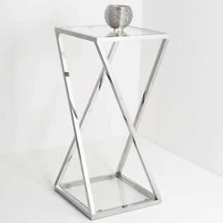 Holländer 209 2506 G Tisch Stellato Gross Edelstahl-Glas Silber-Klar