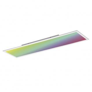Licht-Trend Q-Flat 120 x 30 cm LED Deckenleuchte RGBW + Fb. / Weiss / Deckenlampe