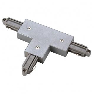 SLV T-Verbinder für 1-Phasen HV-Stromschiene Aufbauversion silbergrau Erde Links 143072