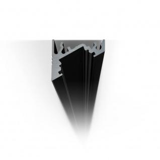 2m Eck-Aluprofil-Erweiterungsset für LED-Strips Abdeckung matt Alu Schwarz eloxiert - Vorschau 5