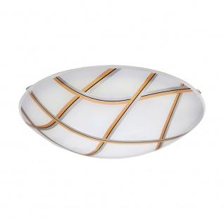 Eglo 96122 Margitta 1 LED Deckenlampße Ø 31, 5cm 950lm Weiß Schwarz Silber Gold