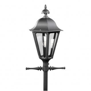 Konstsmide 567-750 Pallas Leuchtenkopf für Mastleuchte Schwarz rauchfarbenes Acrylglas