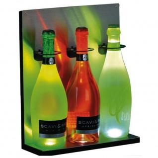 Brumberg LED Flaschenregal Eyecatcher aus Edelstahl LED Wandregal Barleuchte