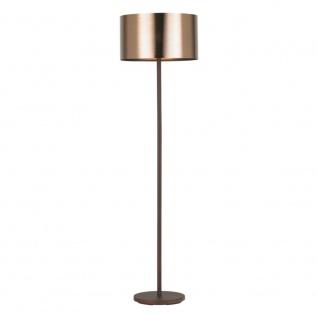 Stehleuchte Saganto 1 Braun, Kupfer Wohnzimmerlampe Stehlampe