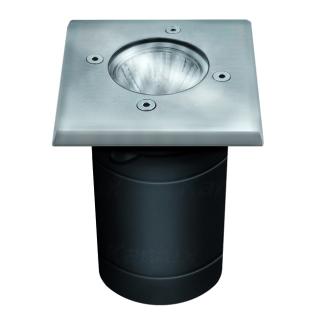 s.LUCE Level Edelstahl Bodeneinbaustrahler eckig IP67 Einbaulampe Aussen