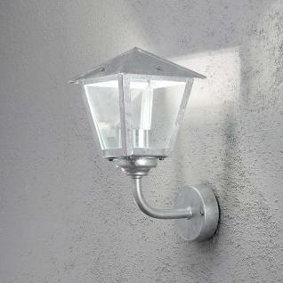Konstsmide 440-320 Benu LED Aussen-Wandleuchte 700lm 3000K galvanisierter Stahl klares Glas - Vorschau 2