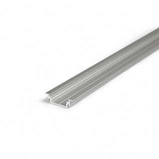Einbauprofil flach 200cm / Alu-eloxiert ohne Abdeckung für LED-Strips