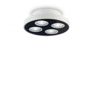 Ideal Lux LED Deckenlampe Garage 4-flg. Rund Weiß 205809