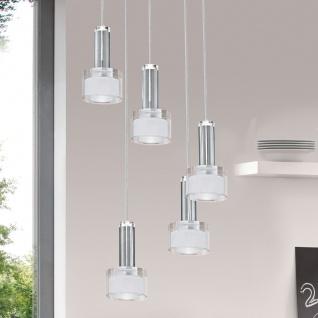 Eglo 93931 Fabiana 1 LED Hängeleuchte 5 x 33 W Stahl Chrom Glas klar satiniert