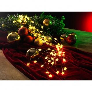 LED Sternenlametta 24 Stränge mit 20 Dioden 480 Warmweiße Dioden 12V Innentrafo goldfarbener Draht