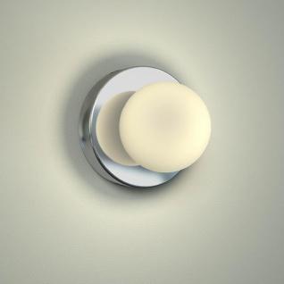 Licht-Trend Azos Spiegel Wandleuchte Ø 10cm IP44 Chrom Weiss