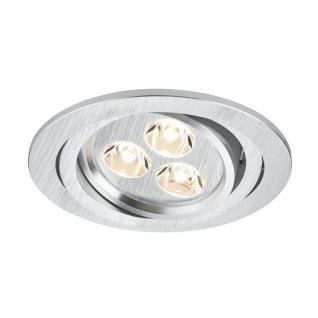 Paulmann Premium EBL Aria rund schwb. LED 1x3W 350mA 94mm Alu geb. /