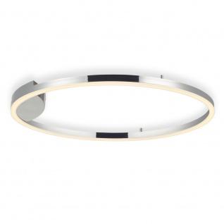 s.LUCE pro LED-Deckenleuchte Ring XL Dimmbar Ø 100cm in Chrom Wohnzimmer Ring Deckenlampe - Vorschau 3