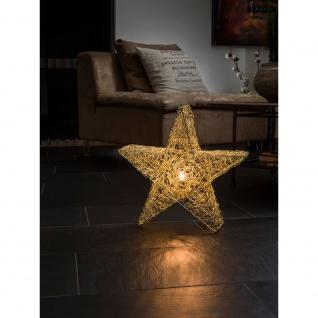 Konstsmide 3554-800 Messingfarbener Metallstern, inkl. Anschlusskabel mit an/aus Schalter, ohne Leuchtmittel, E14 Lampenhalterung für Innenbereich