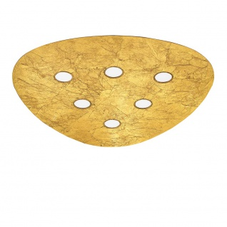 Nova Luce Triangolo LED Deckenlampe Goldfolie Ø 46cm 30W 3000K Deckenleuchte