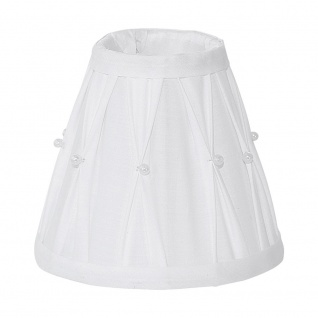 Eglo 49959 1+1 Vintage Lampenschirm Ø 14cm mit Dekor Weiß