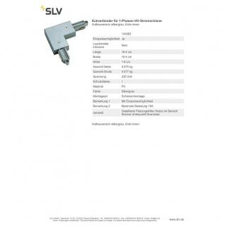 SLV Eckverbinder für 1-Phasen HV-Stromschiene Aufbauversion silbergrau Erde Innen 143062 - Vorschau 2
