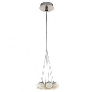 Eglo 94328 Poldras LED Hängeleuchte 7 x 33 W Stahl Nickel-Matt Glas Glas opal-matt amber We