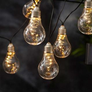Premium LED Solar-Lichterkette 2m Warmweiß Solar Gartenlampe Gartenleuchte
