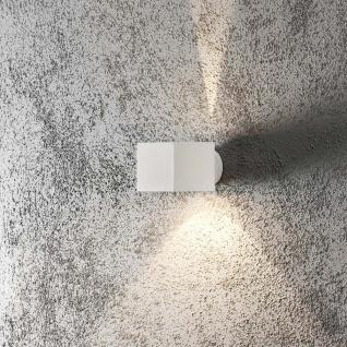 Konstsmide 7341-250 Modena Square Aussen-Wandleuchte / Weiß, klares Glas