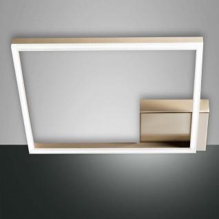 Fabas Luce LED Deckenleuchte Bard 3510lm Gold-Edelmatt