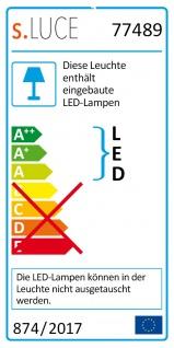 s.LUCE pro LED-Deckenleuchte Ring M Dimmbar Ø 60cm in Chrom Wohnzimmer Ring Deckenlampe