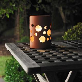 LED Solarleuchte Genova Keramik Terracotta Solar Gartenlampe Gartenleuchte