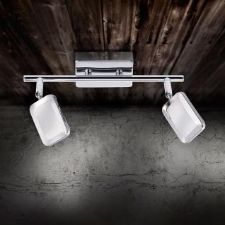 LeuchtenDirekt 11242-17 Wella LED Wand- und Deckenleuchte + Schalter 2 x 4, 20W 3000K Chrom