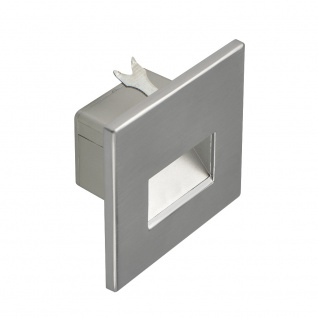 s.LUCE LED-Wandeinbauleuchte Box Alu-Gebürstet 230V inkl. Leuchtmittel