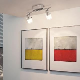 Eglo 93702 Orvieto 1 LED Spot 2-flammig Weiß Klar Nickel-Matt