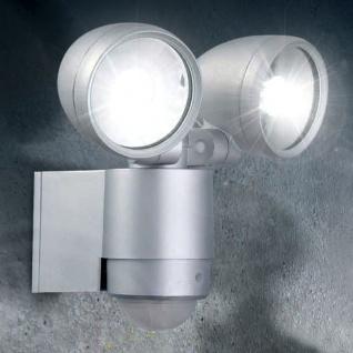 Pedroso LED 2er-Wandstrahler mit Sensor IP44 480lm Garten Aussenstrahler