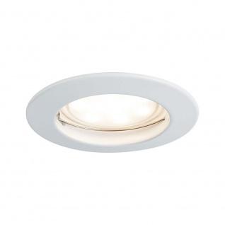 EBL Set Coin dim sat rund starr LED 1x7W 2700K 230V 51mm Weiß m/Alu Zink